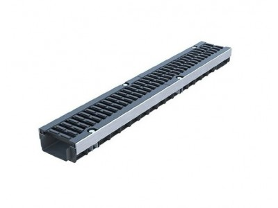 """Лоток PolyMax Drive ЛВ-10.16.12-ПП пластиковый с решеткой чугунной """"шина"""" ВЧ кл.Е (комплект)"""