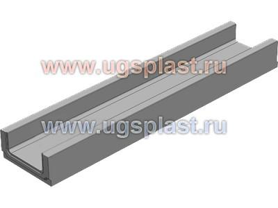 Мелкосидящий бетонный лоток BGF DN100, высота 100, без уклона Арт.11001