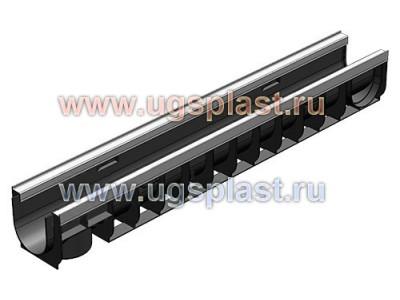 Лоток водоотводный Standart Plus ЛВ-10.14,5.13,5 пластиковый (усиленный) Арт.8004