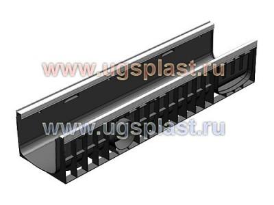 Лоток водоотводный Standart Plus ЛВ-20.24,6.10 пластиковый (усиленный) Арт.8214