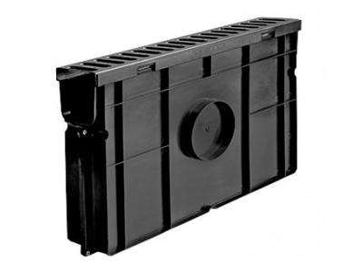 Комплект Light: пескоуловитель для пластиковых лотков ПУ 10.11,5.32 пластиковый с решёткой РВ-10.11.50 пластиковой, кл. А15 Арт.08078
