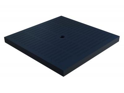 Крышка пластиковая Plastik Park 390.390 черная