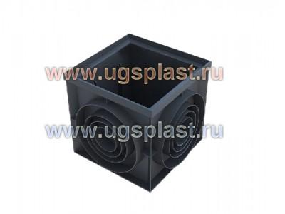 Пластиковый дождеприемник-пескоуловитель PolyMax Basic 400х400 (угловой), арт. 8472.1