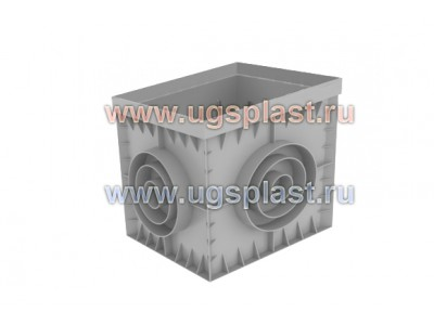 Дождеприемник PolyMax Basic ДП-30.30 пластиковый (серый, черный), арт. 8370