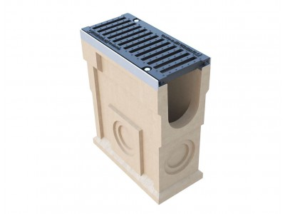 Пескоуловитель CompoMax ПУ–16.25.60-П полимербетонный с решёткой щелевой чугунной ВЧ кл. Е (комплект), арт. 07380