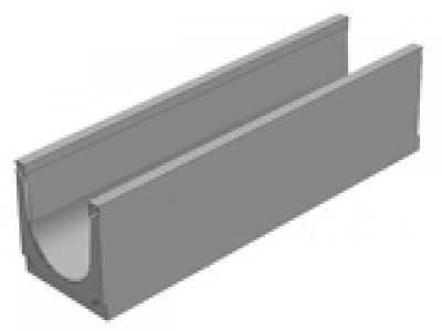 Универсальный водоотводной бетонны лоток BGU DN200, №10-0, без уклона  Арт.13152