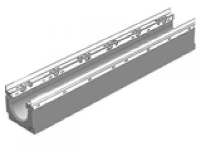 Универсальный водоотводной бетонны лоток BGU-Z DN100, №0, с оцинкованной насадкой Арт.14570