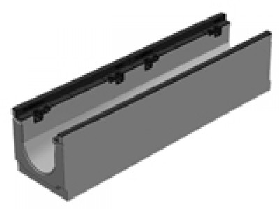 Лоток бетонны водоотводной  BGZ-S DN200, №5-0, с чугунной насадкой для тяжелых нагрузок Арт. 16701