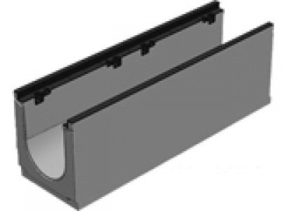 Лоток бетонны водоотводной  BGZ-S DN300, №0, с чугунной насадкой для тяжелых нагрузок Арт. 40630163