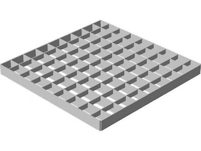 Решётка водоприёмная Point РВ-28,5.28,5 ячеистая стальная оцинкованная Арт.206