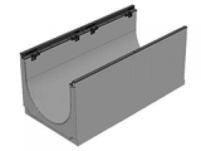 Лоток бетонны водоотводной  BGZ-S DN400, №20-0, с чугунной насадкой для тяжелых нагрузок Арт. 40640164