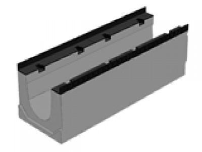 Массивный бетонный лоток BGM DN200, №0, без уклона , водоотводной Арт.40720100