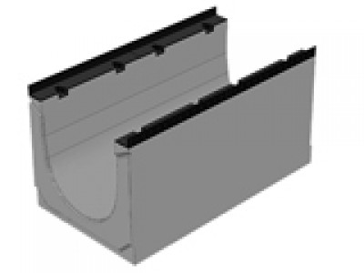Массивный бетонный лоток BGM DN400, №15-0, без уклона , водоотводной Арт.40740163
