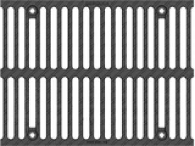 Решётка водоприёмная Super РВ-30.37,5.50 щелевая чугунная ВЧ, кл. E600 Арт.50309E
