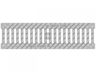 Решётка водоприёмная Standart РВ-10.13,6.50 щелевая чугунная ВЧ оцинкованная, кл. C250 Арт.5065