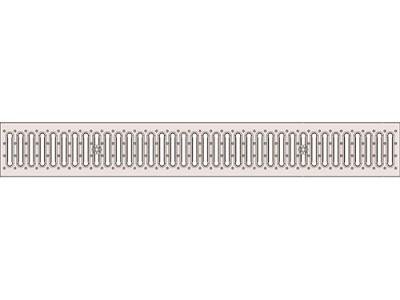 Решетка стальная щелевая DN150 нержавеющая кл.А15, арт.31542А