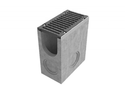 Пескоуловитель BetoMax ПУ-20.29.60-Б бетонный с решёткой щелевой чугунной ВЧ кл. Е (комплект), арт. 04580