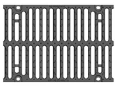 Решётка чугунная для тяжёлых нагрузок DN300, 500/347/25, 16/148, кл. F900 Арт.RU22016