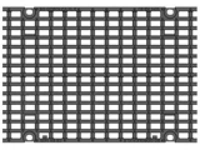 Решётка чугунная щелевая DN400, 500/447/25, MW 25/14, кл. E600 Арт. RU22045