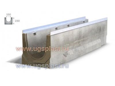 Лоток бетонный ЛВБ Optima 150 №0/1