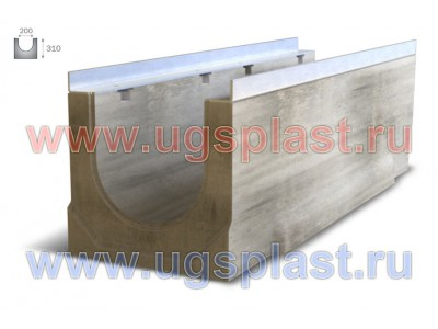 Лоток бетонный ЛВБ Optima 200 №16