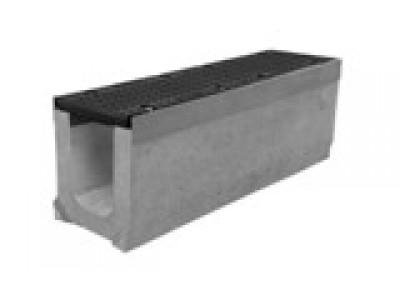 Комплект: лоток водоотводный SUPER ЛВ -10.16.19 бетонный с решеткой ячеистой чугунной ВЧ