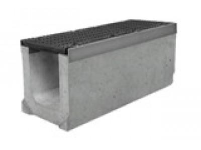 Комплект: лоток водоотводный SUPER ЛВК-20.26,3.30,5 бетонный с решеткой щелевой чугунной ВЧ