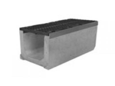 Комплект: лоток водоотводный SUPER ЛВК-40.49,9.49,5 бетонный с решеткой щелевой чугунной ВЧ