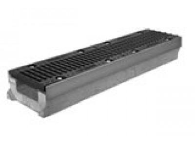 Комплект: лоток водоотводный SUPER ЛВ -10.16.08 бетонный с решеткой ячеистой чугунной ВЧ
