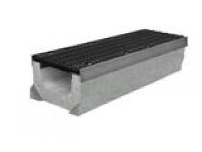 Комплект: лоток водоотводный SUPER ЛВК 15.21,3.10 - бетонный с решеткой ячеистой чугунной ВЧ-50