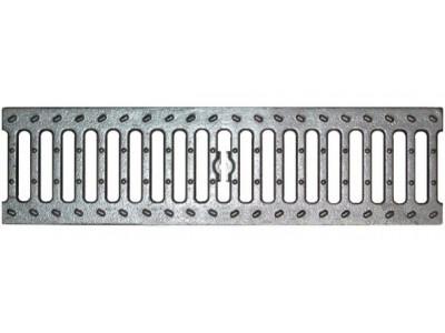 Решетка чугунная щелевая DN100 оцинкованная кл.С250, арт.31013оц