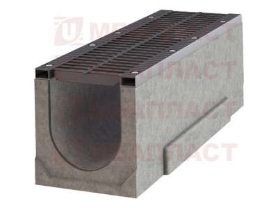 Лоток ЛБ BetonMassiv-E 150.215.330  бетонный уклон №14