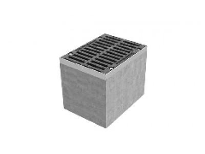 Дождеприёмный колодец секционный BetoMax ДК-30.38.44-Б-В бетонный с решёткой щелевой чугунной ВЧ кл. D (верхняя часть, комплект), арт. 04772/1