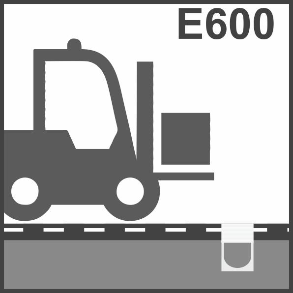 Пластиковые водоотводные лотки класс Е600