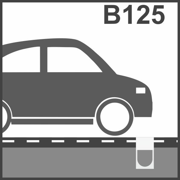 Пластиковые водоотводные лотки класс В125