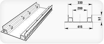 Гидравлическое сечение лотка от DN100 до DN500