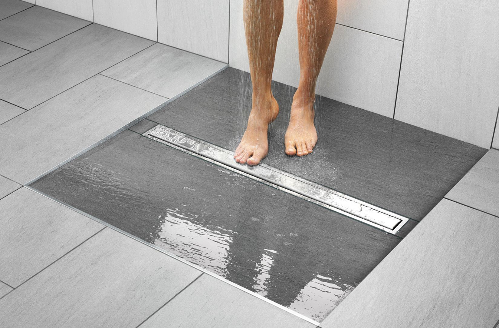 Дренажный отвод в душе