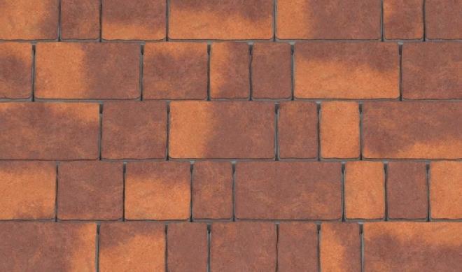 Тротуарная плитка коричнево-оранжевая